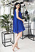 Платье коктейльное Мелитта синее, фото 3