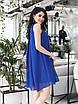 Платье коктейльное Мелитта синее, фото 4