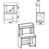 Стол компьютерный СКМ-6 (Компанит) 1000х598х756+686мм , фото 9
