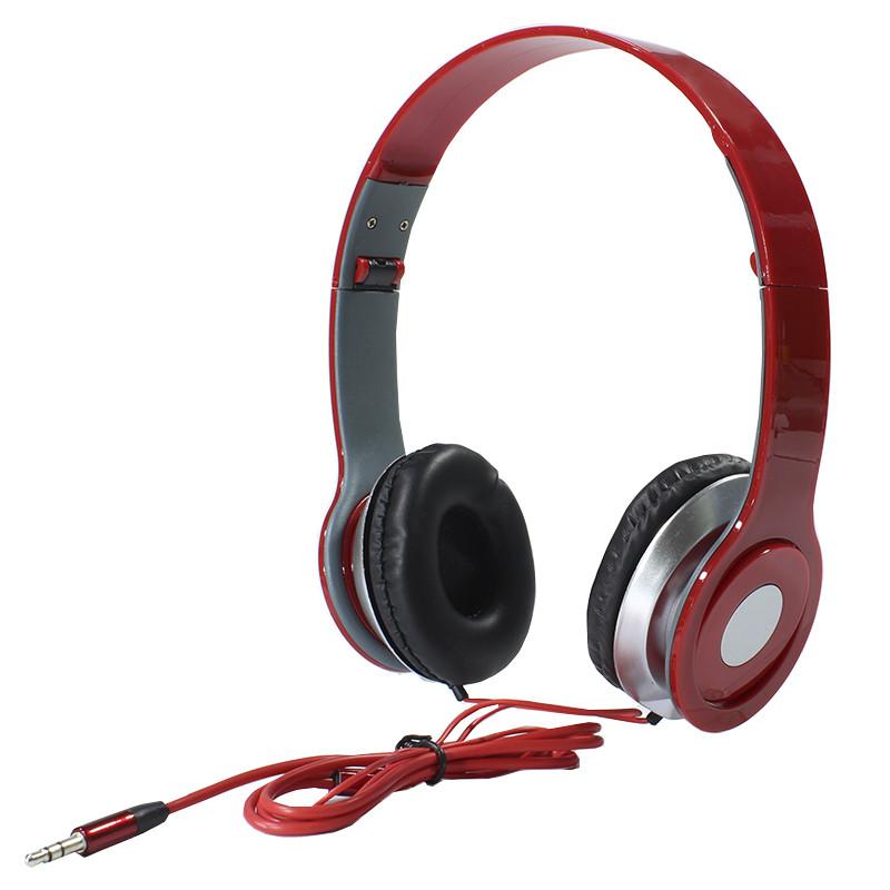 ✓Наушники Lesko Beats PV TM-SLL0001 Красные накладные музыкальные