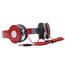 ✓Наушники Lesko Beats PV TM-SLL0001 Красные накладные музыкальные, фото 3