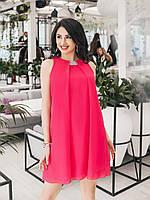 Малиновое Платье коктейльное Мелитта, фото 1