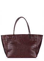 Кожаная сумка POOLPARTY Desire коричневая, фото 1