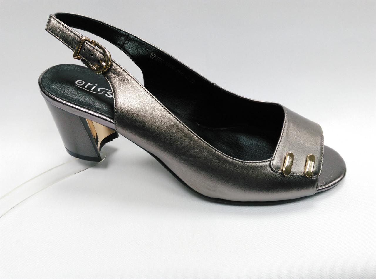Босоножки  на низком каблуке  Erisses (2 варианта). Большие размеры.