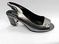 Босоножки  на низком каблуке  Erisses (2 варианта). Большие размеры., фото 1