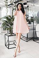 Платье персиковое коктейльное Мелитта, фото 1