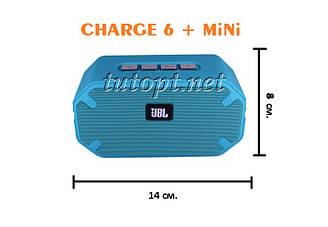 Портативная беспроводная колонка JBL CHARGE 6+ mini USB, SD, FM, Bluetooth,влагоустойчивый