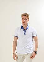 Молодежная белая футболка с вышевкой