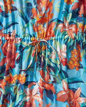 Туника шифон цветочный принт на кулиске 146-18, фото 2