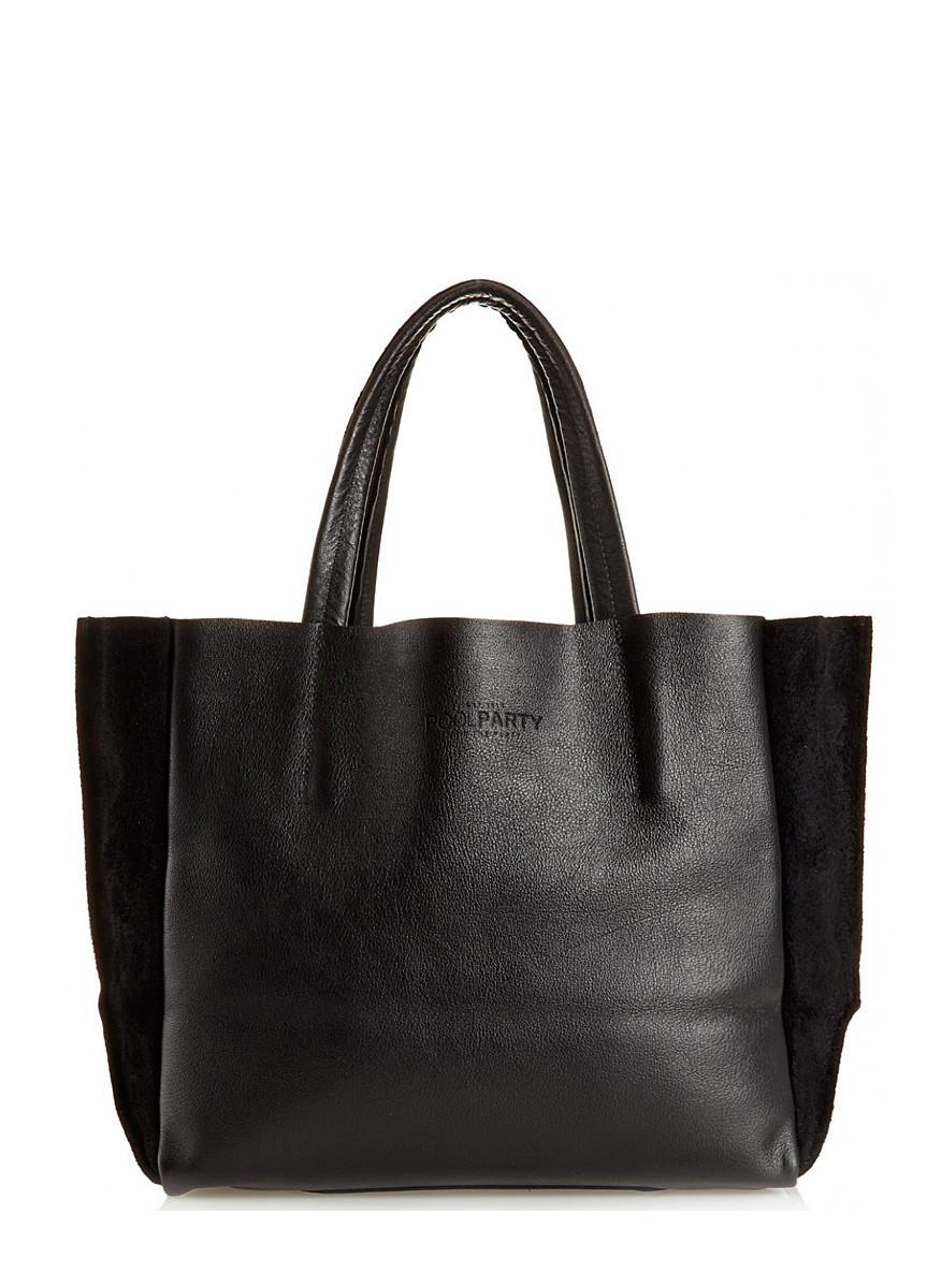 f2737deeabbf Кожаная сумка POOLPARTY Soho чёрная от компании