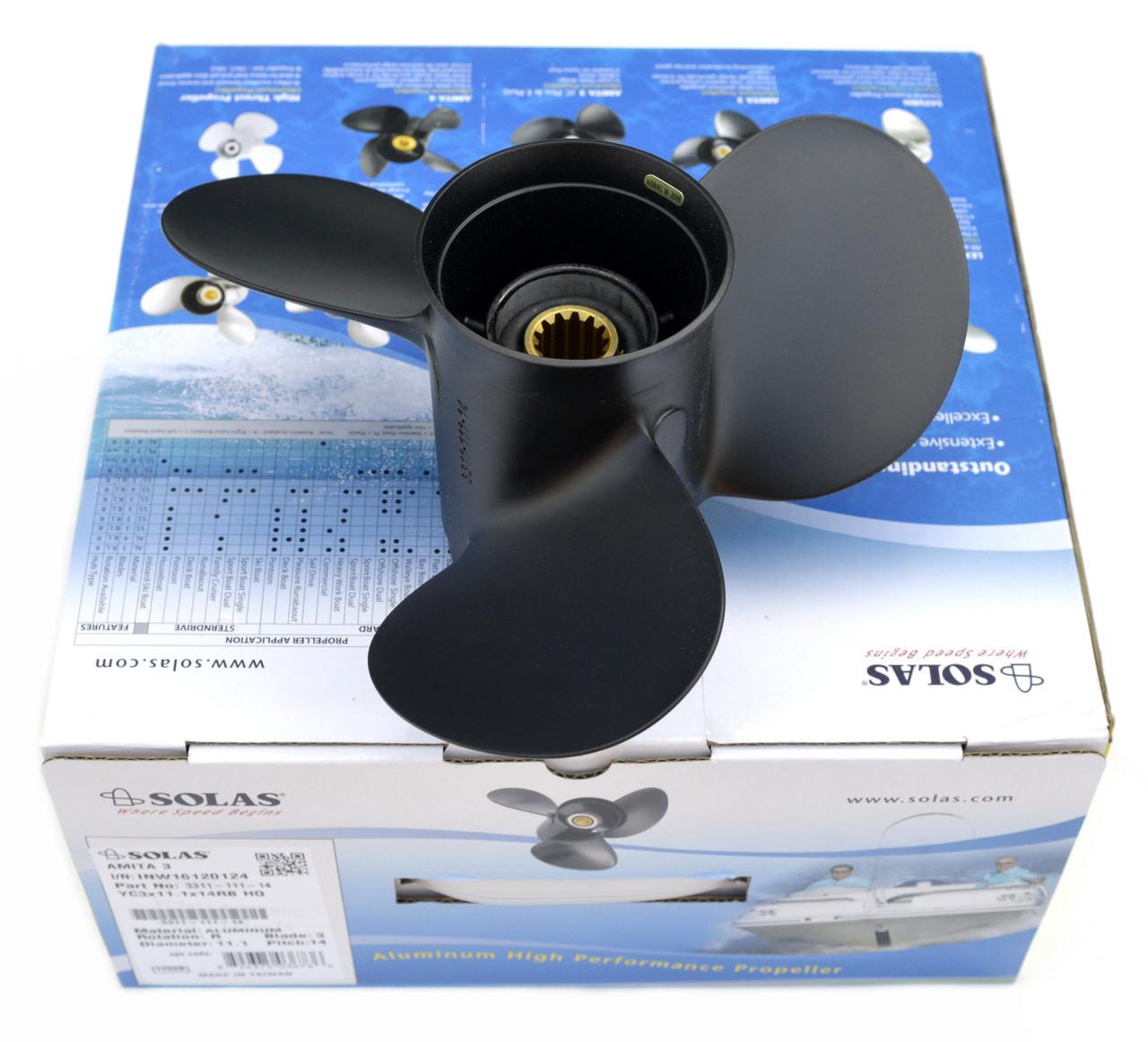 Винт гребной лодочный Yamaha (14.5x19) 3511-145-19 YE3x14.5x19RB SOLAS
