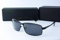 Солнцезащитные очки Porsche Design прямоугольные черные, фото 1