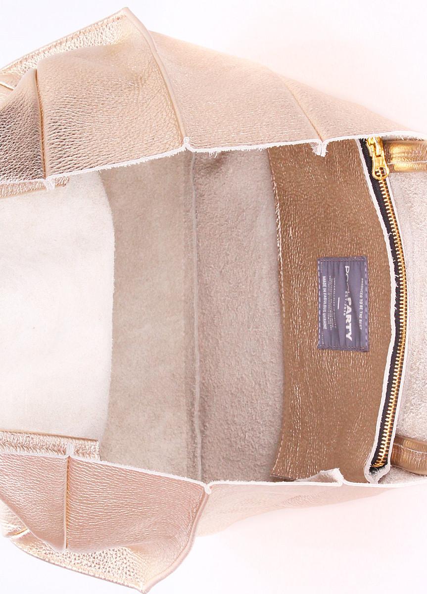 dddf02171f32 Кожаная сумка POOLPARTY Soho золотая, цена 1 755 грн., купить в Киеве —  Prom.ua (ID#522744096)