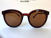 Очки солнцезащитные коричневые круглые, фото 1
