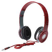 ➨Наушники Monster Beats PV TM-SLL0001 Красные накладные для занятий спортом jack 3.5