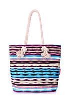 Пляжная вельветовая сумка в полоску POOLPARTY