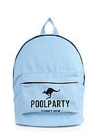 Рюкзак молодежный POOLPARTY голубой, фото 1