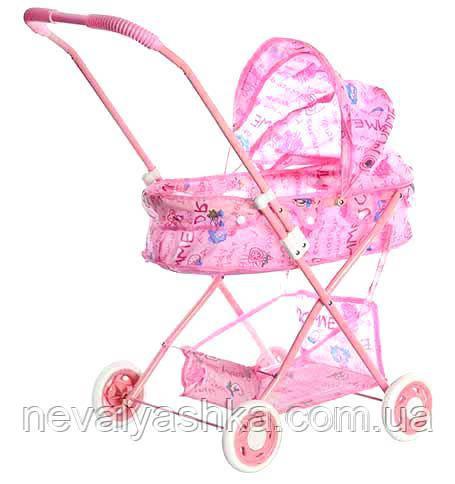 Коляска для Кукол Розовая Игрушечная Колясочка, 883, 000352
