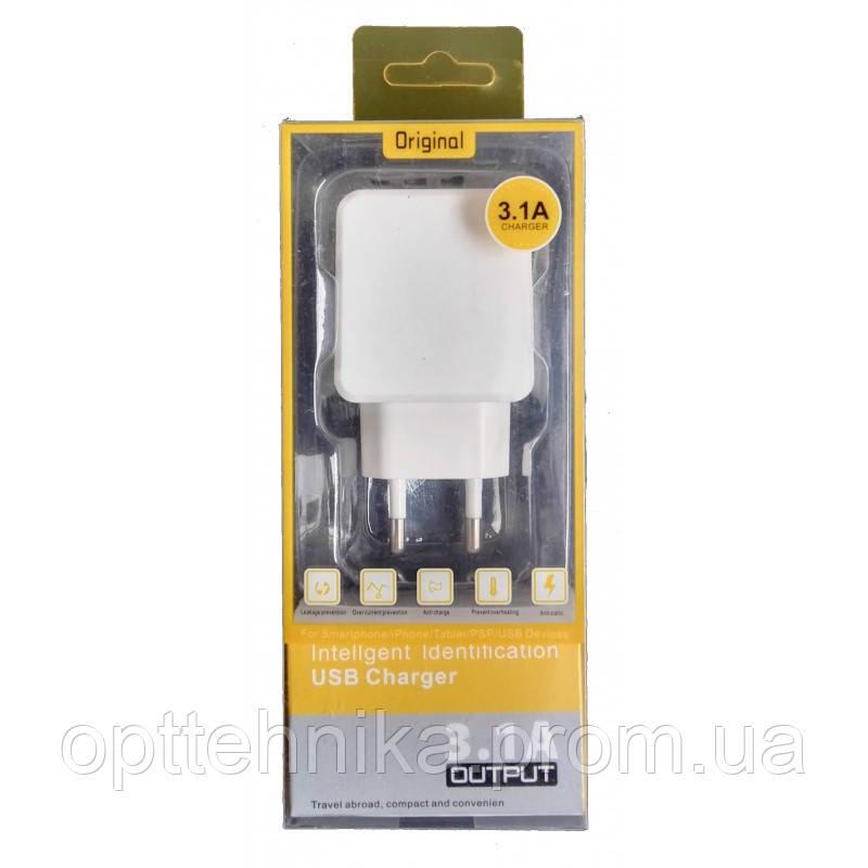 """Сетевое зарядное устройство адаптер """"KeKe F6C"""" 4 USB Port 3.1A (в упаковке)"""