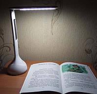 Сенсорная светодиодная настольная лампа светильник с часами и термометром аккумуляторная подсветка