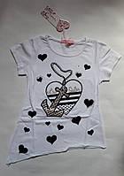 Летняя футболка для девочки 122 рост