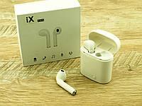 IX TWS (копия apple AirPods i7S) Bluetooth headset стерео гарнитура с кейсом, белая