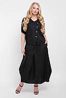 Костюм юбочный Софико черный, фото 1