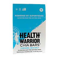 Health Warrior, Inc., Баточники с чиа, карамелью и морской солью, 15 батончиков, 13,2 унц. (375 г)