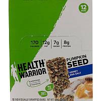 Health Warrior, Inc., Тыквенные семечки, мед, морская соль, 12 батончиков, 14,8 унц. (420 г)