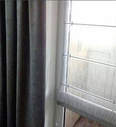 Римская штора, ткань тюль рейн