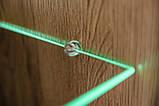 Стінка модульна у вітальню/спальню з ДСП/Скло Clif чорний Furnival, фото 6