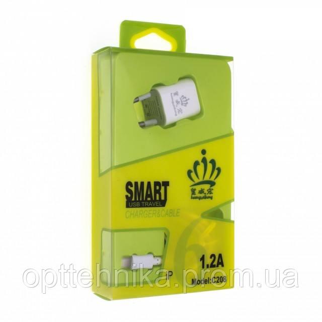 Cетевое зарядное устройство HWH C208 Lihtning 1 USB Port 1.2A