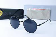 Солнцезащитные очки Rb круглые черные, фото 1