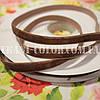 Велюровая (бархатная) лента шоколадная, 1см, 20м