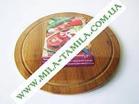 Доска деревянная для пиццы О32см VT6-19037