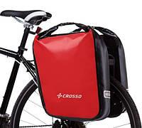 Велосумка Crosso DRY BIG 60L Красная (Велобаул, Велорюкзак на багажник) (CO1009-red)