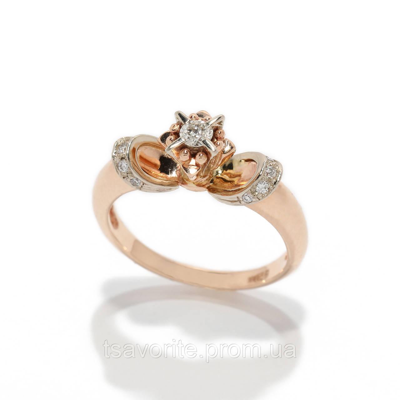 Золотое кольцо с бриллиантами 2231595