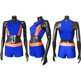 Форма легкоатлетическая  м1 сине-оранжевая