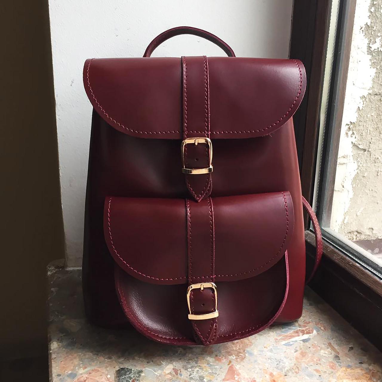 """Женский кожаный рюкзак """"Patsy"""" бургунди"""