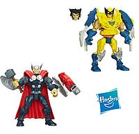 Разборные фигурки-конструкторы Тор и Росомаха от Hasbro, Super Hero Mashers