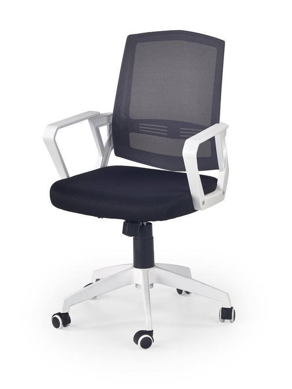 Кресло офисное Ascot Черно-бело-серый
