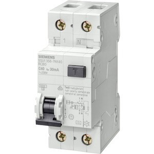 УЗО (дифреле) Siemens (IFN 30мА, 1+N-пол., 6A), 5SU1356-0KK06