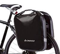 Велосумка Crosso DRY BIG 60L Чёрная (Велобаул, Велорюкзак на багажник), фото 1