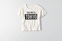 Женская футболка с надписью AEO Boxy Crop City Graphic T-Shirt WHITE