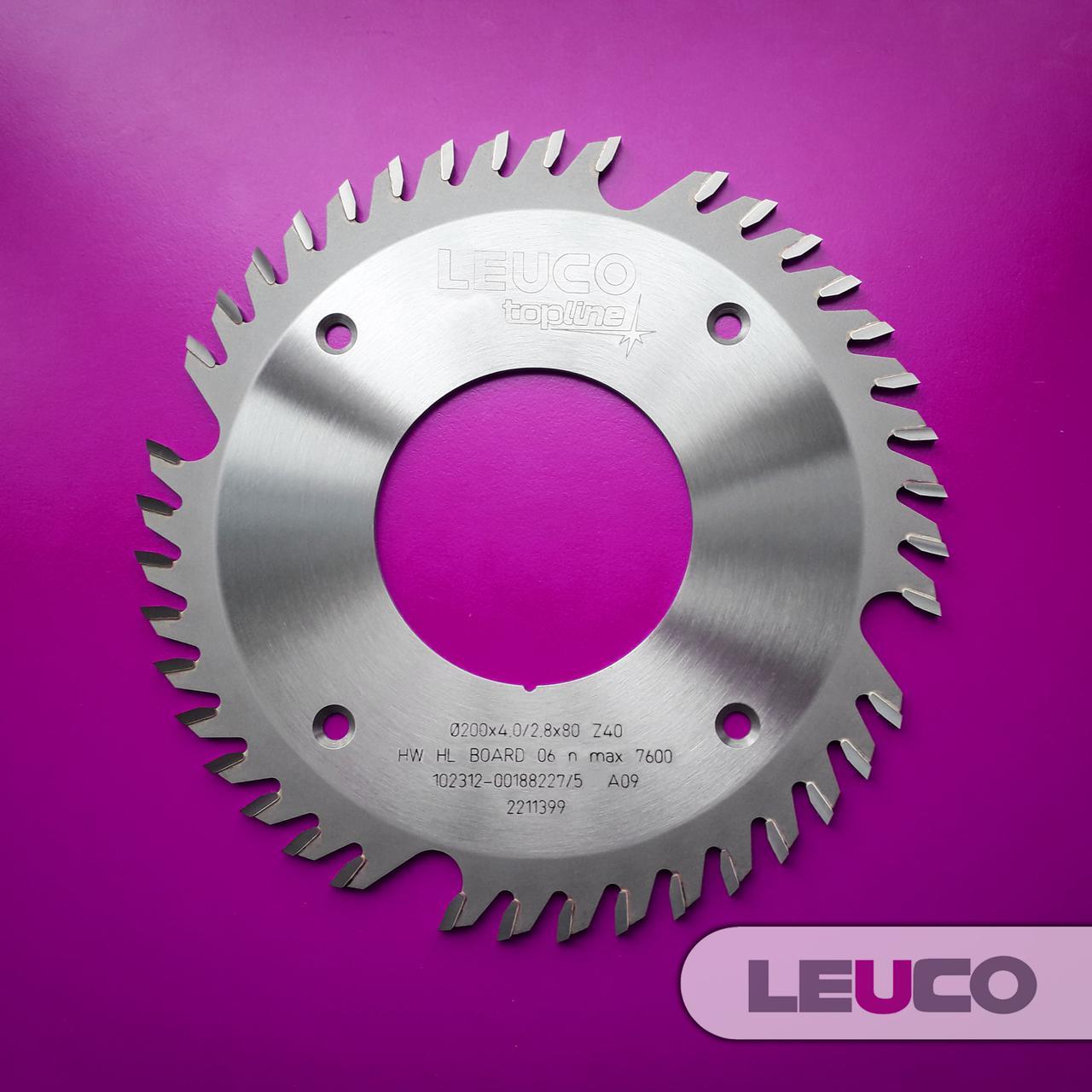 Форматные дисковые пилы Leuco для сегментных дробителей 200х4,0х2,8х80, Z=40