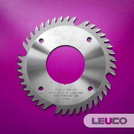 Форматные дисковые пилы Leuco для сегментных дробителей 200х4,0х2,8х80, Z=40, фото 2