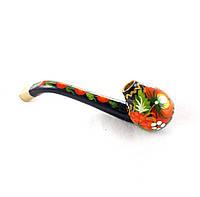 Трубка курительная – Петриковская роспись (дерево)