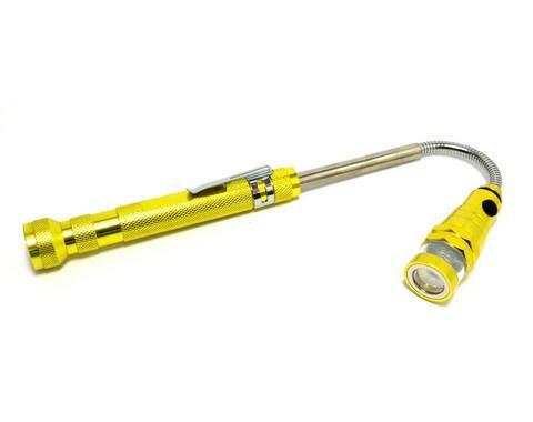 Фонарик с выдвижным магнитным захватом АСКО-УКРЕМ ДМ-50А Желтый