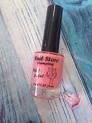 Фарба для стемпинга Nailstory, рожева 17