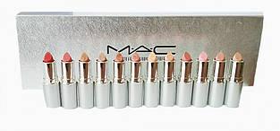 Набор помад MAC matte lipstick rouge a levres (12 шт.) silver